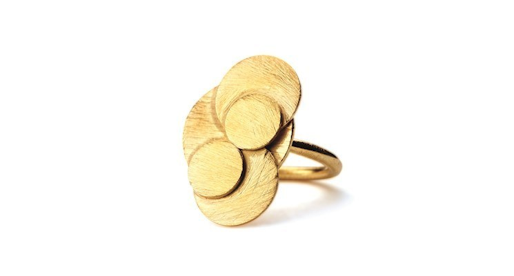 Ring Coin Adjustable in Gold - Pernille Corydon