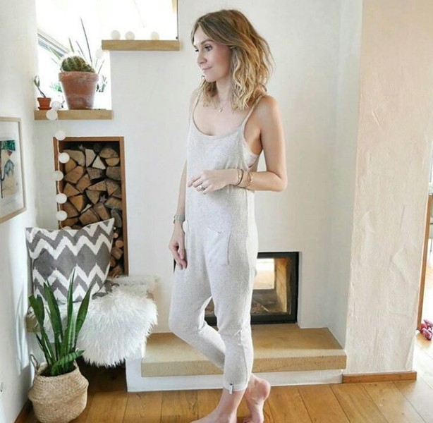 Romper in Taupe meliert - Cotton Candy