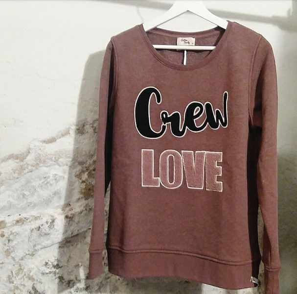 "Sweatshirt ""Crew Love"" - Cotton Candy"