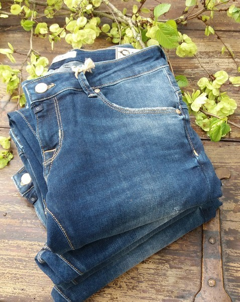 jeans 'gina' in saphire blue - c.o.j. denim