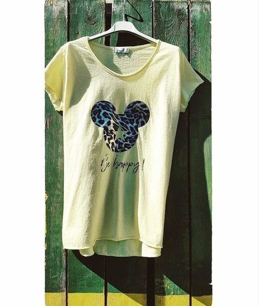 t-shirt mickey mouse 'be happy' - ...by sl