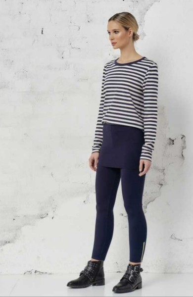 leggings mit rock in navy - cotton candy