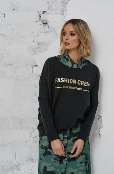 sweatshirt fashion crew - cotton candy
