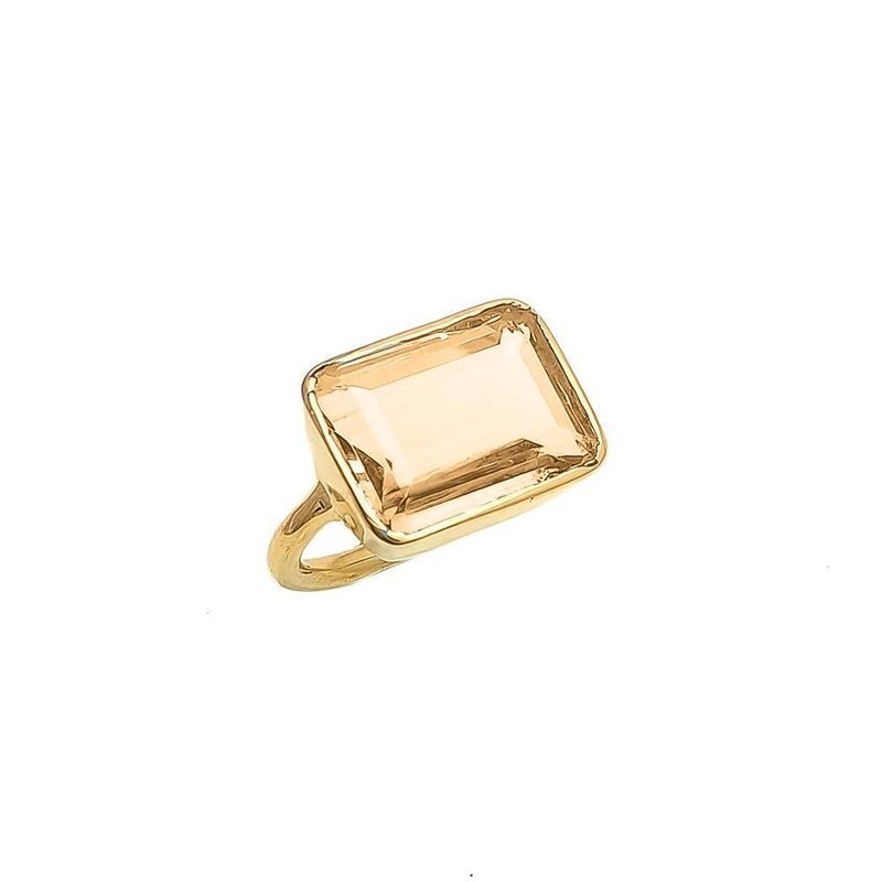 ring lenny champagne quartz - shyla jewellery