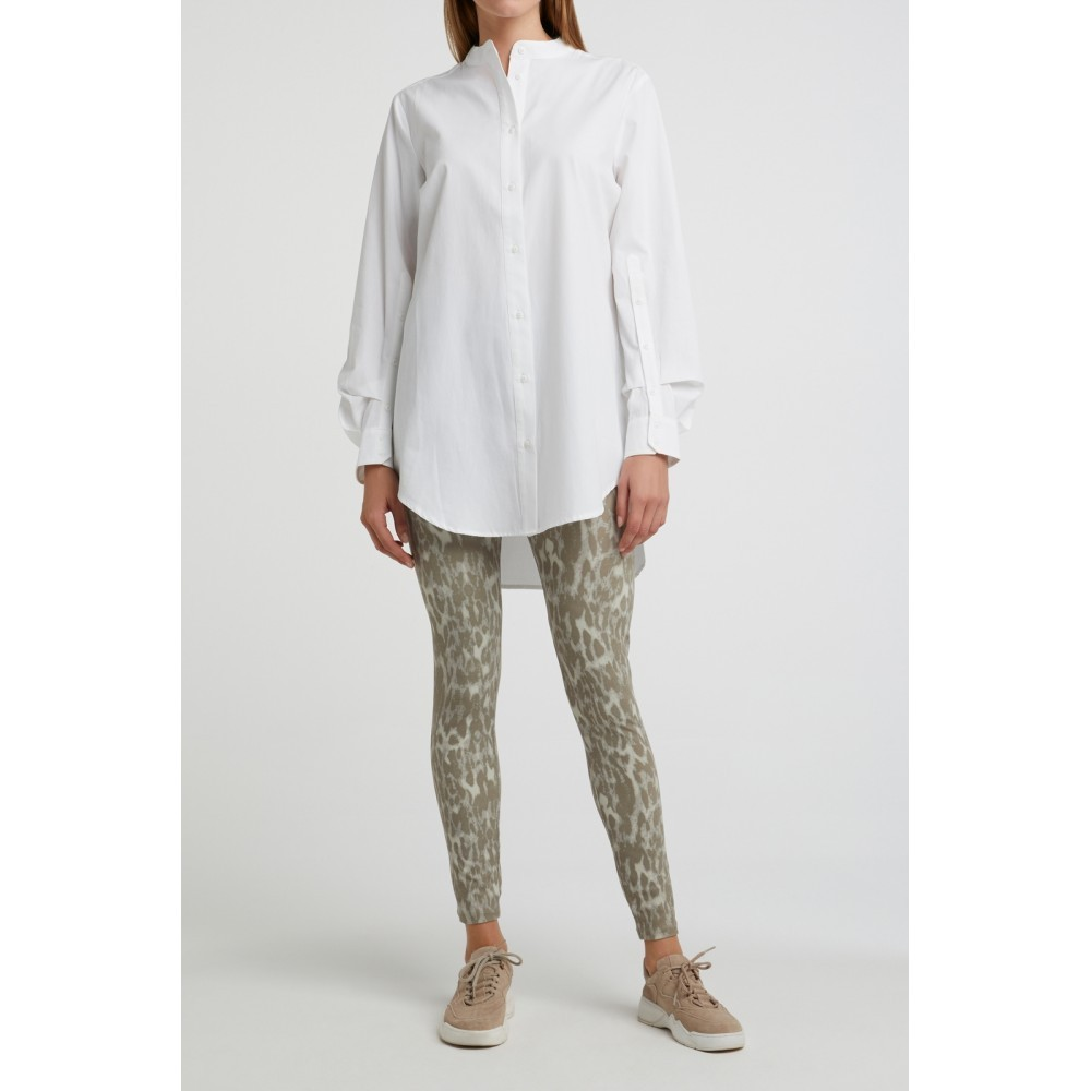 stretchleggings animalprint in dark sand - yaya