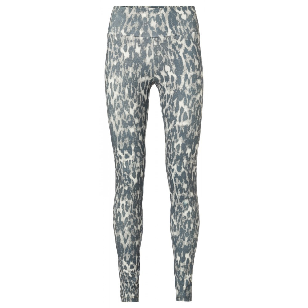stretchleggings animalprint in dark sage - yaya