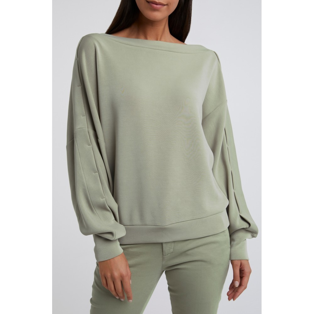 sweatshirt in dark sage - yaya