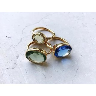 ring oval dark blue quartz - shyla jewellery
