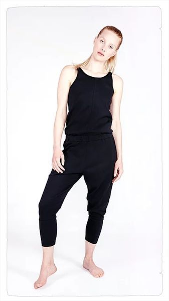 yoga jumpsuit loose soft black - yoiqi yoga wear