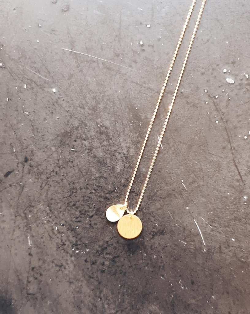 coin & drop kette in gold - pernille corydon