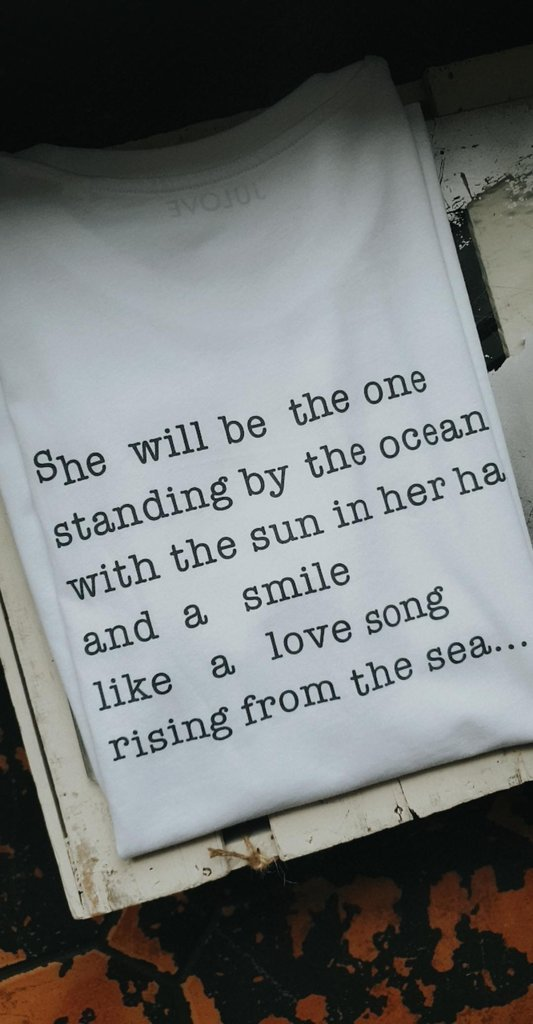 t-shirt 'ocean girl', 100% organic cotton - julove